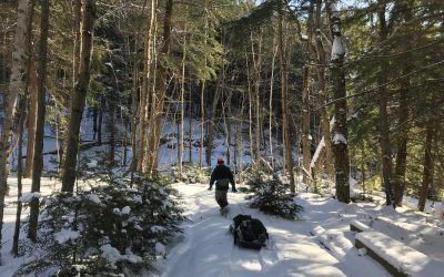Climbing Silver Peak in Winter 2018